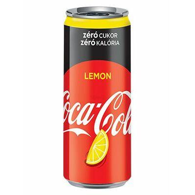 Coca Cola Lemon Zero dobozos 330 ml (0,33 L) Citromos Szénsavas Üdítőital