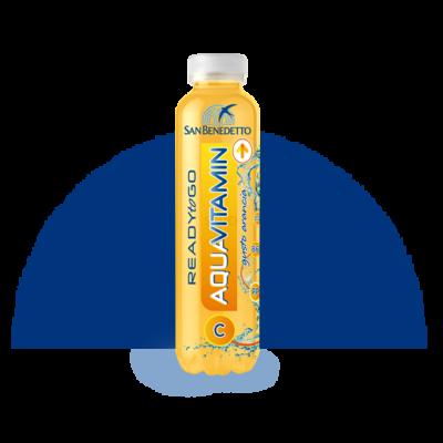 San Benedetto Aqua Vitamin Narancs 400ml (0,4 L) Vitamin Sport ital Szénsavmentes Üdítőital