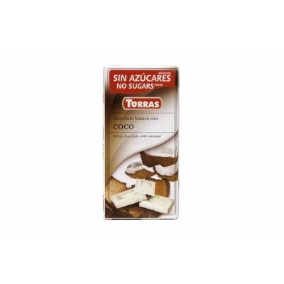 Torras Kókuszos ferhércsokoládé hozáadott cukor nélkül 75g