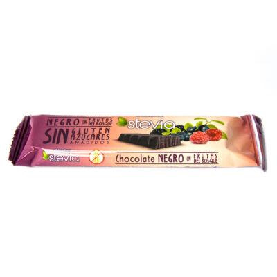 Torras STEVIA Erdeigyümölcsös étcsokoládé hozáadott cukor nélkül 35g