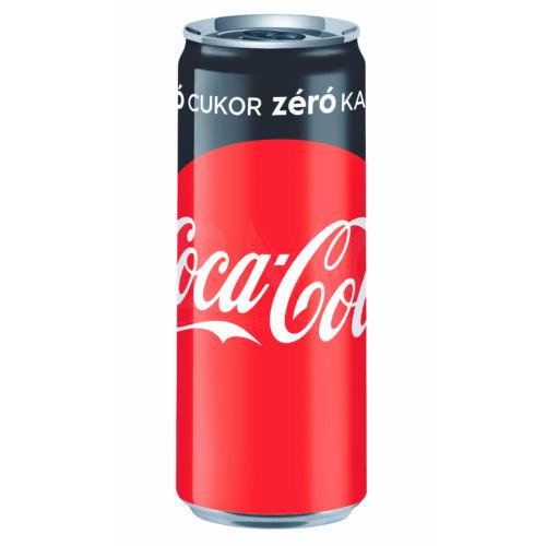 Coca Cola ZERO dobozos 250 ml (0,25 L) cukor mentes  Szénsavas Üdítőital