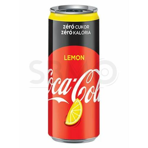 Coca Cola Lemon Zero dobozos 250 ml (0,25L) Citromos Szénsavas Üdítőital