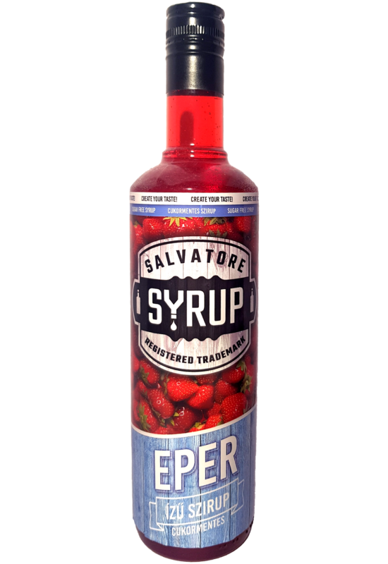 Salvatore Syrup Cukormentes Eper szirup 0,7l