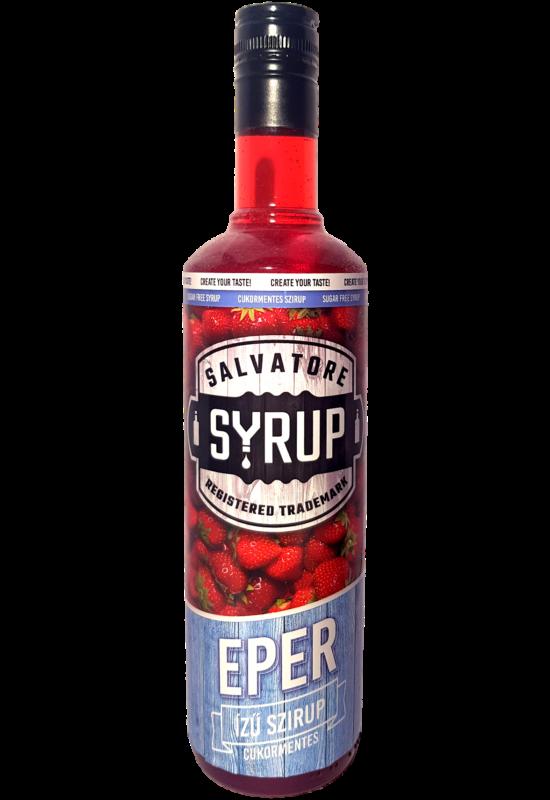 Salvatore Syrup Cukormentes Eper szirup 4l