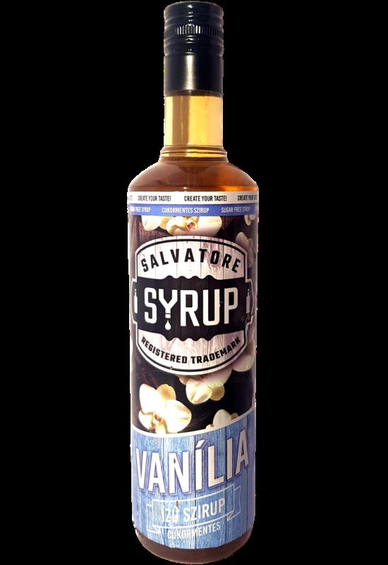 Salvatore Syrup Cukormentes Vanília szirup 0,7l
