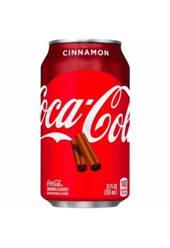 Coca Cola Cinnamon 0,355l (355 ml) fahéjas Dobozos szénsavas üdítőital
