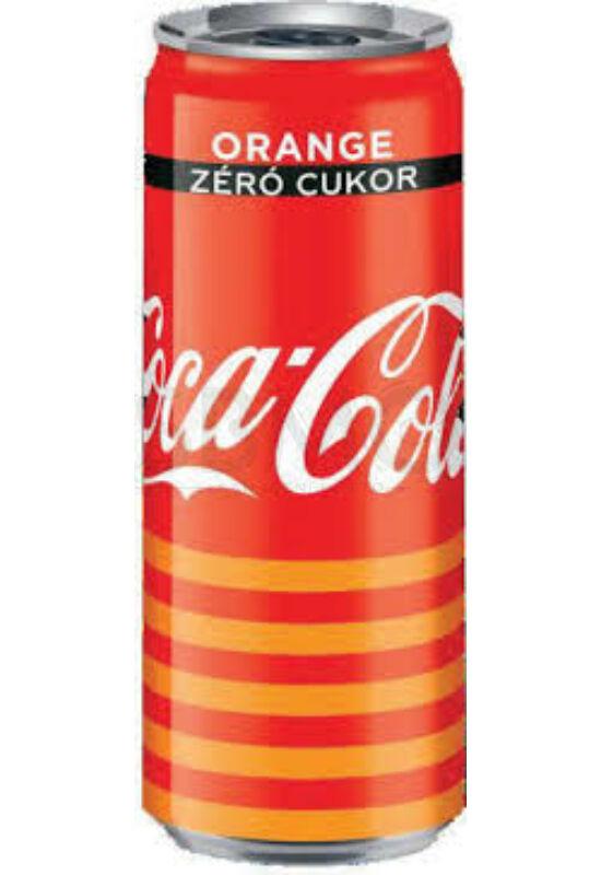 Coca Cola ZERO Orange dobozos 250 ml (0,25 L) cukor mentes narancsos Szénsavas Üdítőital narancs ízű