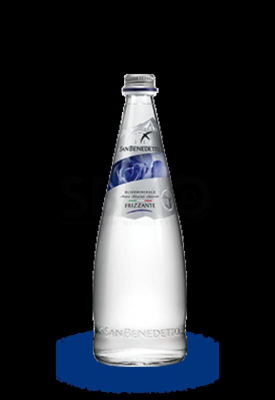 San Benedetto Szénsavas Üveges Ásványvíz Forrásvíz Üvegben 750ml (0,75 L) (Gasztro)